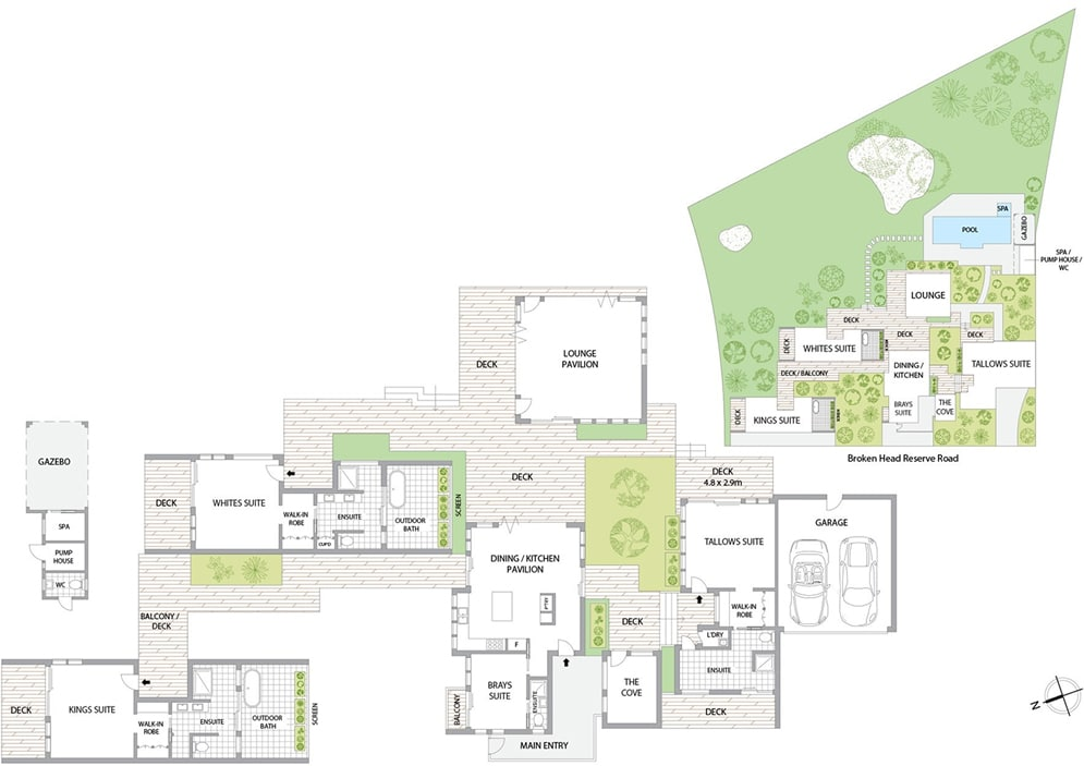 Byron Beach Retreats 'The Boardwalk' floor plan